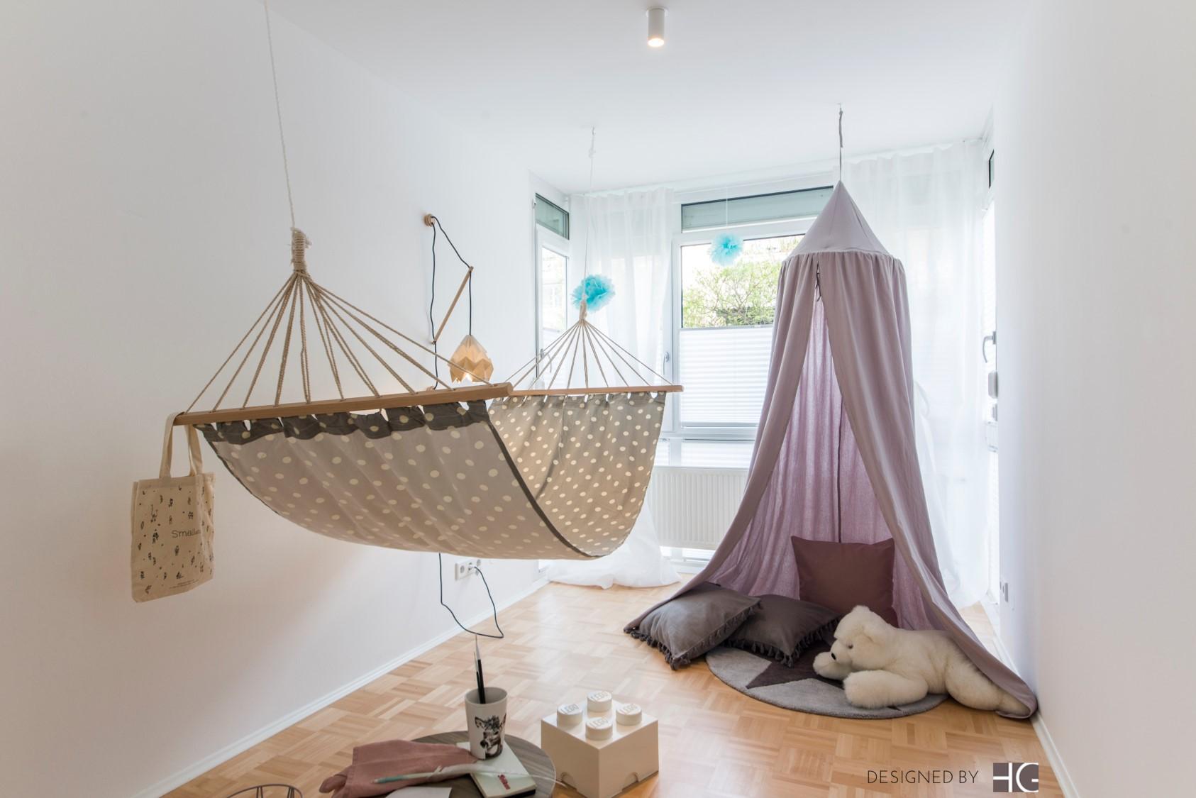 Home Staging Giesing Kinderzimmer mit Zelt homestager Geschka