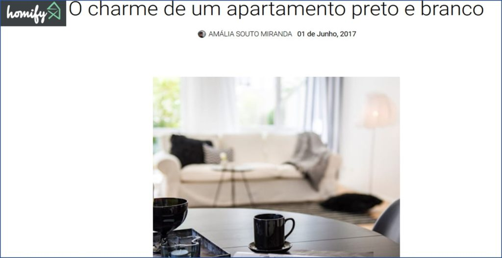 HOMIFY MAGAZIN Portugal präsentiert schwarz-weiss Interior Design