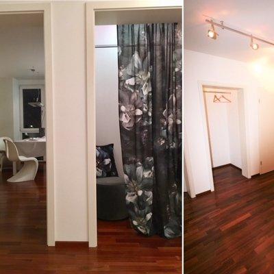 Vorhang-Design-Blumenprint