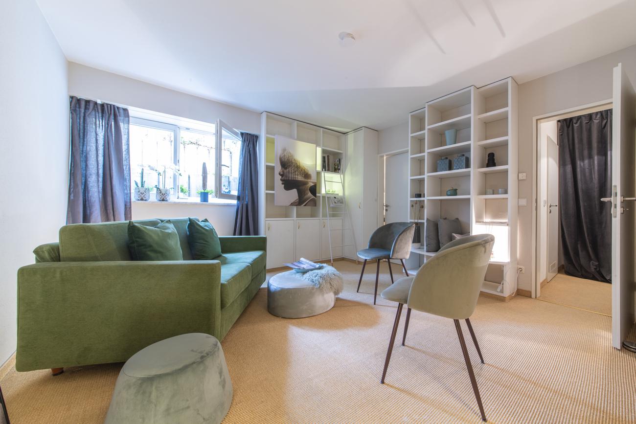 Souterrain - Gästezimmer wird gemütlicher Rückzugsort - homestaging Gestaltung